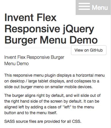 Flexible Responsive Burger Menu | Invent Partners